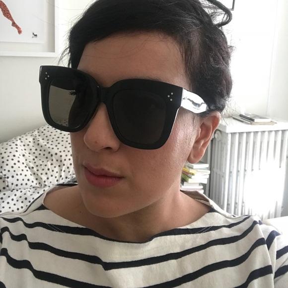 "9ca8535dfa8 Celine ""Kim"" oversized square sunglasses"